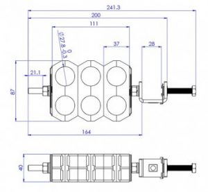 Twin 6 Cable Coaxial Clamp