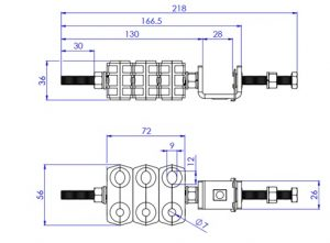 Optical Fiber and Power Cable Feeder Clamp