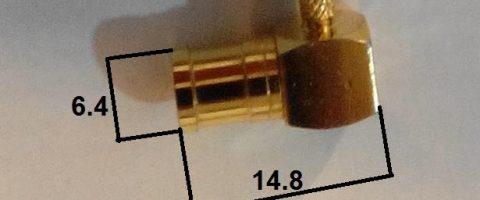 ابعاد کانکتور SMB (1.5) چپقی مادگی