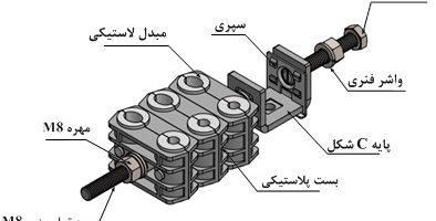 اجزاء بست فیبر و برق